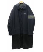 Denham(デンハム)の古着「CAPTAIN COAT バックロゴナイロンコート」|ブラック