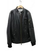 Vivienne Westwood man(ヴィヴィアンウエストウッドマン)の古着「レザー シングルライダースジャケット」|ブラック