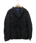 JUNYA WATANABE COMME des GARCON MAN(ジュンヤワタナベ コムデギャルソンマン)の古着「18AW STRAP JACKET  テープラインジャケット」|ブラック