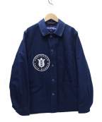 JUNYA WATANABE COMME des GARCON(ジュンヤワタナベ コムデギャルソン)の古着「20SS 綿サージ LE LABOUREUR ジャケット」|ネイビー