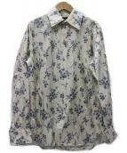 MARC JACOBS(マークジェイコブス)の古着「Floral Print Silk Shirt シルクシャツ」|ホワイト