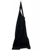COEL(コエル)の古着「20SS ラップ風ジャンパースカート」|ブラック