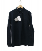 LACOSTE(ラコステ)の古着「銀ワニ  ボタンダウンポロシャツ」|ネイビー