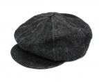 trophy clothing(トロフィークロージング)の古着「Dirt Denim Newsboy Cap キャスケット」|ブラック