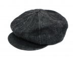 Trophy Clothing(トロフィークロージング)の古着「Dirt Denim Newsboy Cap キャスケット」 ブラック
