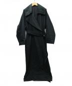 foufou(フーフー)の古着「19AW La Rotonde '19 トレンチコート」 ブラック