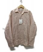 Phlannel(フランネル)の古着「20SS Island Linen Pintuck シャツ」 ピンク