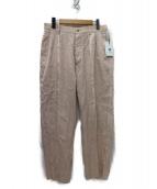Phlannel(フランネル)の古着「20SS Island Linen 2tuck パンツ」 ピンク