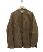 Phlannel(フランネル)の古着「20AW Goat Suede Cook Shirt ジャケ」 ブラウン