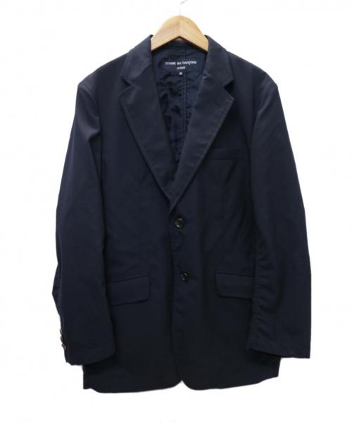 COMME des GARCONS HOMME(コムデギャルソンオム)COMME des GARCONS HOMME (コムデギャルソンオム) ウールトロ 2Bジャケット ネイビー サイズ:M  AD2018 HA-J101の古着・服飾アイテム