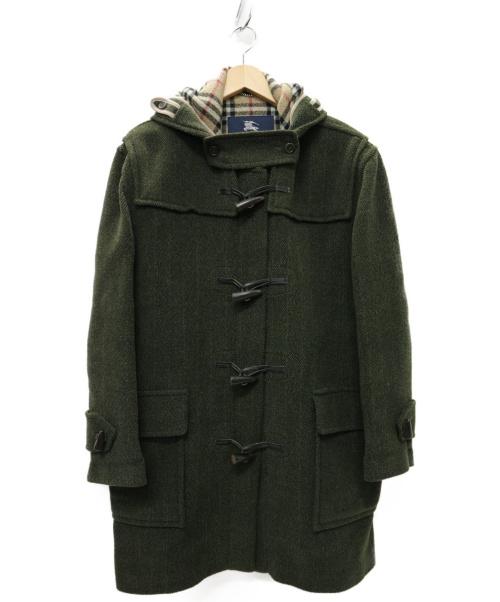 BURBERRY LONDON(バーバリーロンドン)BURBERRY LONDON (バーバリーロンドン) UK製 ノバチェクダッフルコート オリーブ サイズ:46  イングランド製の古着・服飾アイテム
