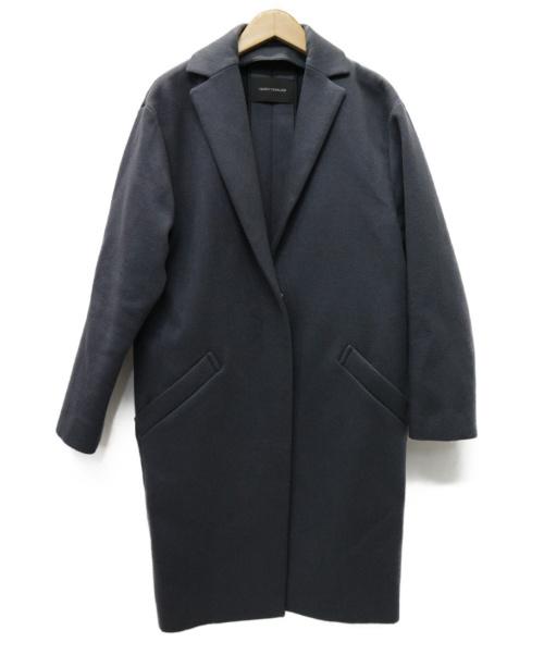 CEDRIC CHARLIER(セドリック シャルリエ)CEDRIC CHARLIER (セドリック シャルリエ) カシミヤMIX コート グレー サイズ:イタリアサイズ:38の古着・服飾アイテム