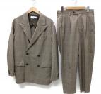 UNITED ARROWS TOKYO(ユナイティッドアローズトウキョウ)の古着「チェックルーズ4Bセットアップスーツ」|ベージュ