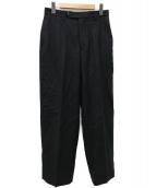 Phlannel(フランネル)の古着「Wool Flannel Straight Slackパンツ」 ブラック