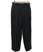 Phlannel()の古着「Wool Flannel Straight Slackパンツ」|ブラック