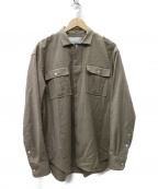 Bagutta(バグッタ)の古着「ストレッチウールフライトフロントシャツ ブルゾン」|ベージュ