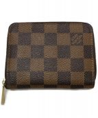 LOUIS VUITTON(ルイヴィトン)の古着「ダミエ ジッピーコインパース 財布」|ブラウン