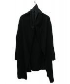 mizuiro-ind(ミズイロインド)の古着「ドレープロングカーディガン」|ブラック