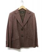 LEILIAN(レリアン)の古着「カシミヤ混 ウール2Bジャケット」|レッド