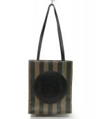 FENDI(フェンディ)の古着「ペカン FFロゴスタンプ  トートバッグ」|ベージュ