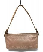 FENDI(フェンディ)の古着「ズッカ柄 アクセサリーポーチ バッグ」|ピンク