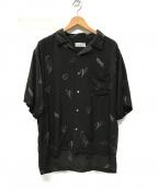 KIJI(キジ)の古着「ILLUST ALOHA SHIRT アロハシャツ」|ブラック