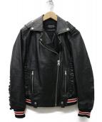 REPLAY(リプレイ)の古着「ナッパレザーライダースジャケット」 ブラック