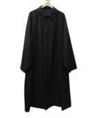 Graphpaper(グラフペーパー)の古着「Wide Stripe Wool Oversized コート」|ブラック