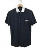 GIORGIO ARMANI(ジョルジョアルマーニ)の古着「ハーフジップポロシャツ」|ネイビー