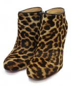 Christian Louboutin()の古着「BELLE 100 PONYブーティ ブーツ」|ベージュ