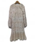 TADASHI SHOJI(タダシ ショージ)の古着「YAME DRESS  ドレスワンピース」|ベージュ