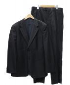 ARMANI COLLEZIONI(アルマーニコレツォーニ)の古着「2Bタック セットアップスーツ」|ブラック
