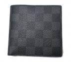 LOUIS VUITTON(ルイヴィトン)の古着「ダミエ・グラフィット  ポルトフォイ・マルコ 財布」|ブラック