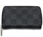 LOUIS VUITTON(ルイヴィトン)の古着「ジッピー・コイン パース ダミエ・グラフィット 財布」|ブラック