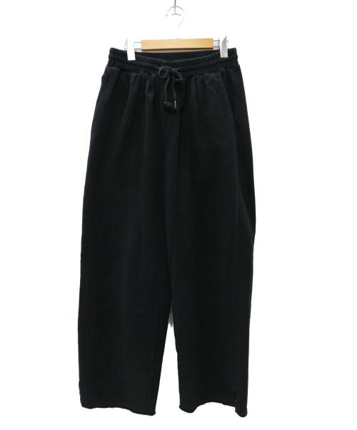 FACCIES(ファッチーズ)FACCIES (ファッチーズ) WIDE LONG PANTS ワイドロングパンツ ブラック サイズ:3  FCS19SC019の古着・服飾アイテム