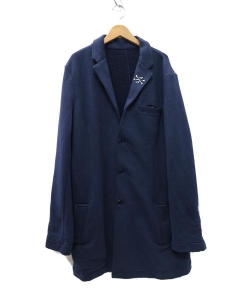 HYDROGEN(ハイドロゲン)HYDROGEN (ハイドロゲン) コットンスウェットチェスターコート ネイビー サイズ:XL  Alberto Bresci Gold Label Lの古着・服飾アイテム