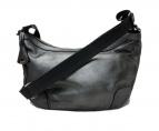 aniary(アニアリ)の古着「バルケッタ Antique Leatherショルダーバッグ」|シルバー