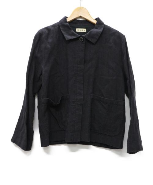 muku(ムク)MUKU (ムク) リネン ウール ジャケット ネイビー サイズ:無し※実寸参照 リトアニアリネンの古着・服飾アイテム