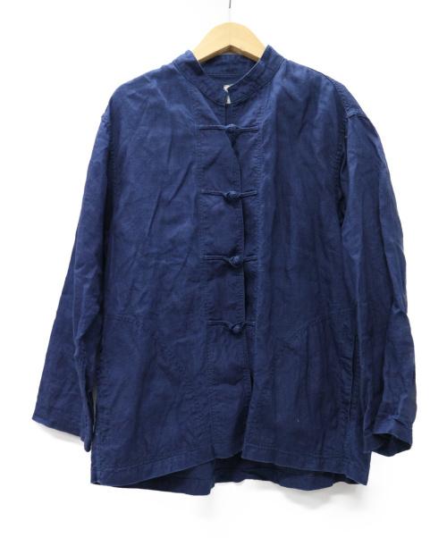 orSlow(オアスロウ)orSlow (オアスロウ) インディゴリネンカンフージャケット ネイビーの古着・服飾アイテム