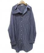 BALENCIAGA(バレンシアガ)の古着「PULLED SHIRT DRESS ワンピース」 ネイビー