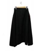 MADISON BLUE(マディソンブルー)の古着「フレアウール ロングスカート」 ブラック