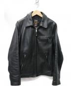 shott(ショット)の古着「103US レザートラッカー ライダース ジャケット」|ブラック