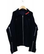 PHINGERIN(フィンガリン)の古着「ZIP RUN JACKET CORD ジャケット」|ネイビー