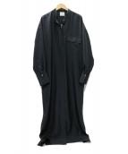 loin.(ロワン)の古着「20AW現行品 シルク ドレス ワンピース」|ネイビー