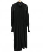 ISABEL MARANT(イザベルマラン)の古着「19AW シルクハイネックワンピース」|ブラック