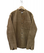 Phlannel(フランネル)の古着「Goat Suede Cook Shirt ジャケット」 ベージュ