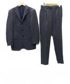 RING JACKET(リングジャケット)の古着「セットアップ 3Bタックスーツ」 ネイビー