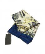 manipuri(マニプリ)の古着「dishes シルクスカーフ」 ネイビー