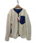 CHUMS(チャムス)の古着「リバーシブルエルモ フリース ジャケット」 ネイビー