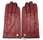 Vivienne Westwood(ヴィヴィアンウエストウッド)の古着「オーブボタン レザーグローブ 手袋」 レッド